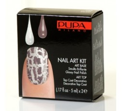 Pupa Nail-art Kit White/Taupe