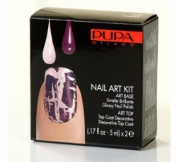 Pupa Nail-art Kit Pink/Purple