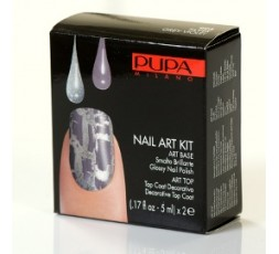 Pupa Nail-art Kit Silver/Grey Violet