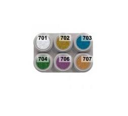 Grimas Water Make-up Metallic Pure palet 6 kleuren