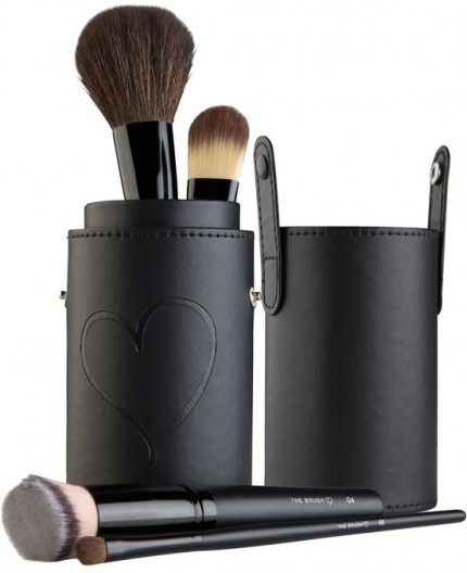 The Brush Make-up kwasten-set met penseel-houder
